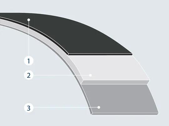 Polyamide sheet tension member