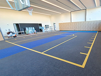 St John Bosco Primary School - Flotex Sheet Sports flooring
