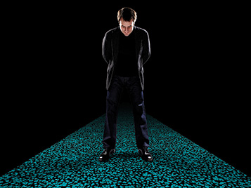 Chris Redfern standing on Flotex Sottsass Bacteria 990105