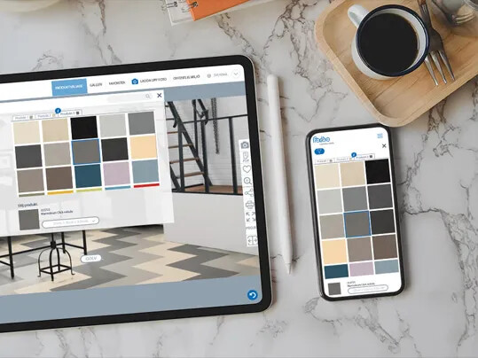 Forbo Floorplanner tablet and smartphone