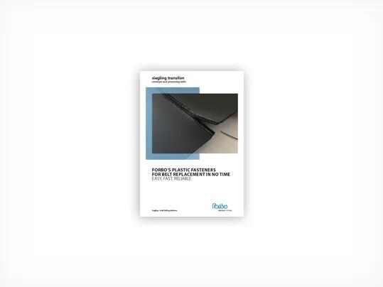 708 Siegling Transilon Forbo's plastic fasteners