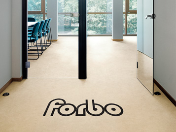 Forbo Logo mit Aquajet