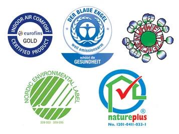 Revêtement de sol Marmoleum - Labels et certifications | Forbo Flooring Systems