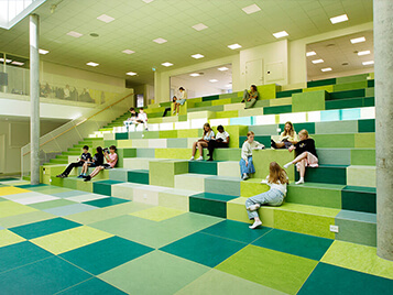 Marmoleum in the education segment