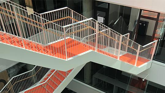 Vestskoven High School 3607 stairs atrium