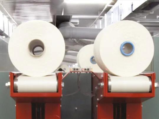 Yarn OE rotor spinning machine yarn rolls