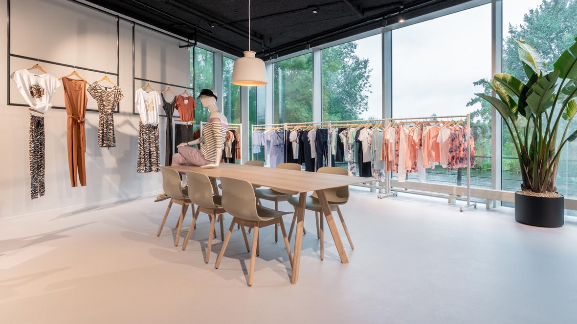 Grey Marmoleum in showroom Fashion Linq