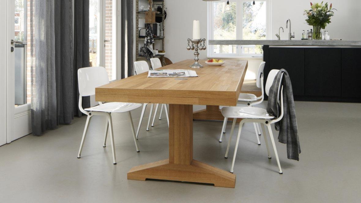 Revêtement de sol, linoléum logement social cuisine   Forbo Flooring Systems
