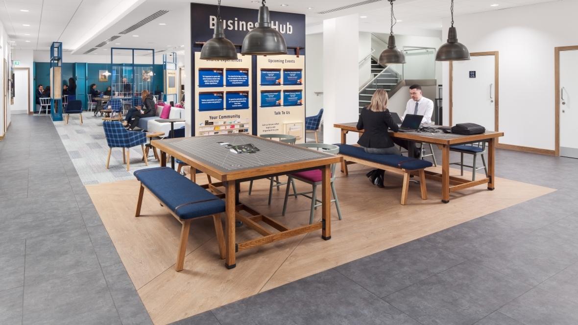 Bank of Scotland Flagship | Allura Wood + Allura Material + Furniture Linoleum + Tessera