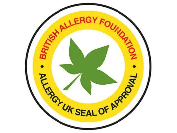 Allergy UK seal of approval logo