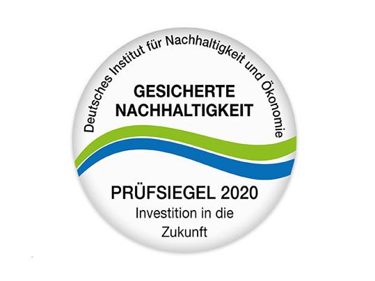 Prüfsiegel - Gesicherte Nachhaltigkeit