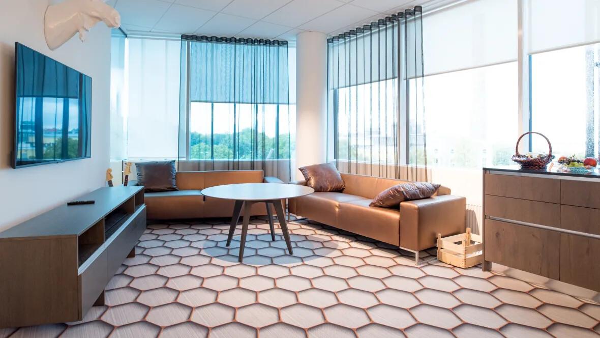 Revêtement de sol textile floqué personnalisable - Flotex lab