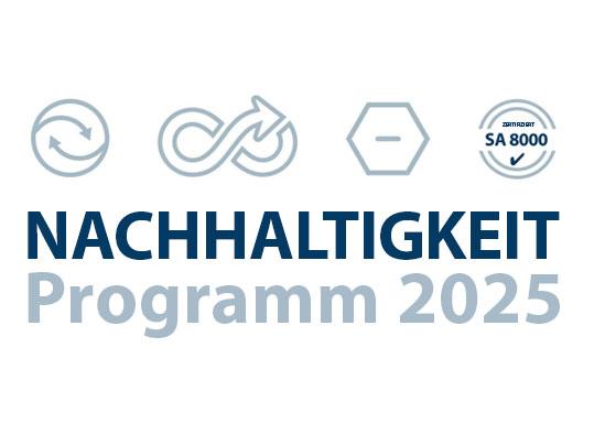 Nachhaltigkeitsprogramm 2025