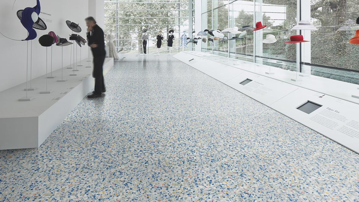 Vinyl Stone/Ceramic/Concrete - colourful terrazzo