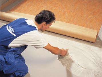 Linoleum montering