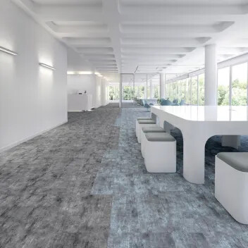 Revêtement de sol textile en lames Flotex concrete | Forbo Flooring Systems