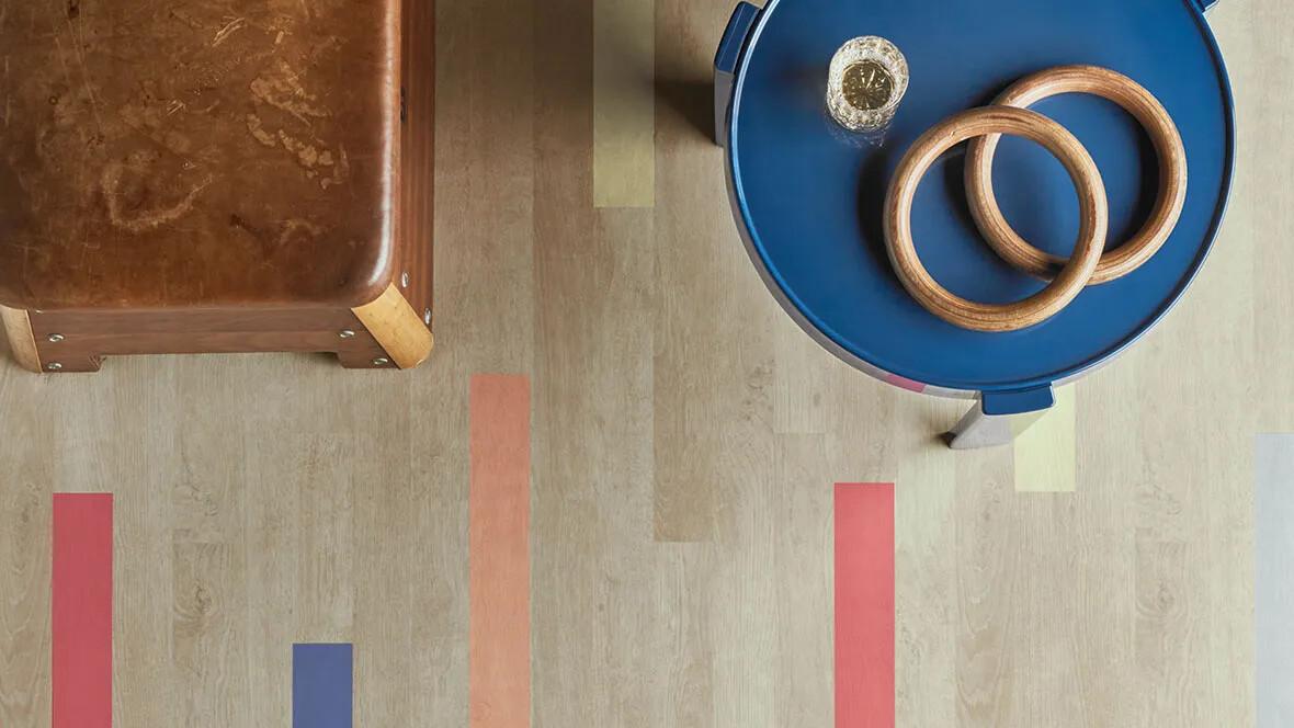 Vinyl Wood - bright colourful planks