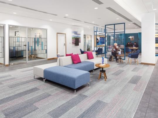 Bank of Scotland Tessera Inline carpet tiles