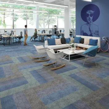 Revêtement de sol Flotex textile en lames ombré | Forbo Flooring Systems