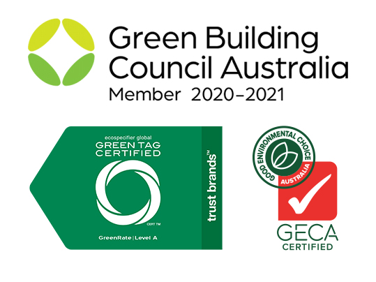 Forbo Flooring Australia product eco labels - Greentag, GECA GBCA