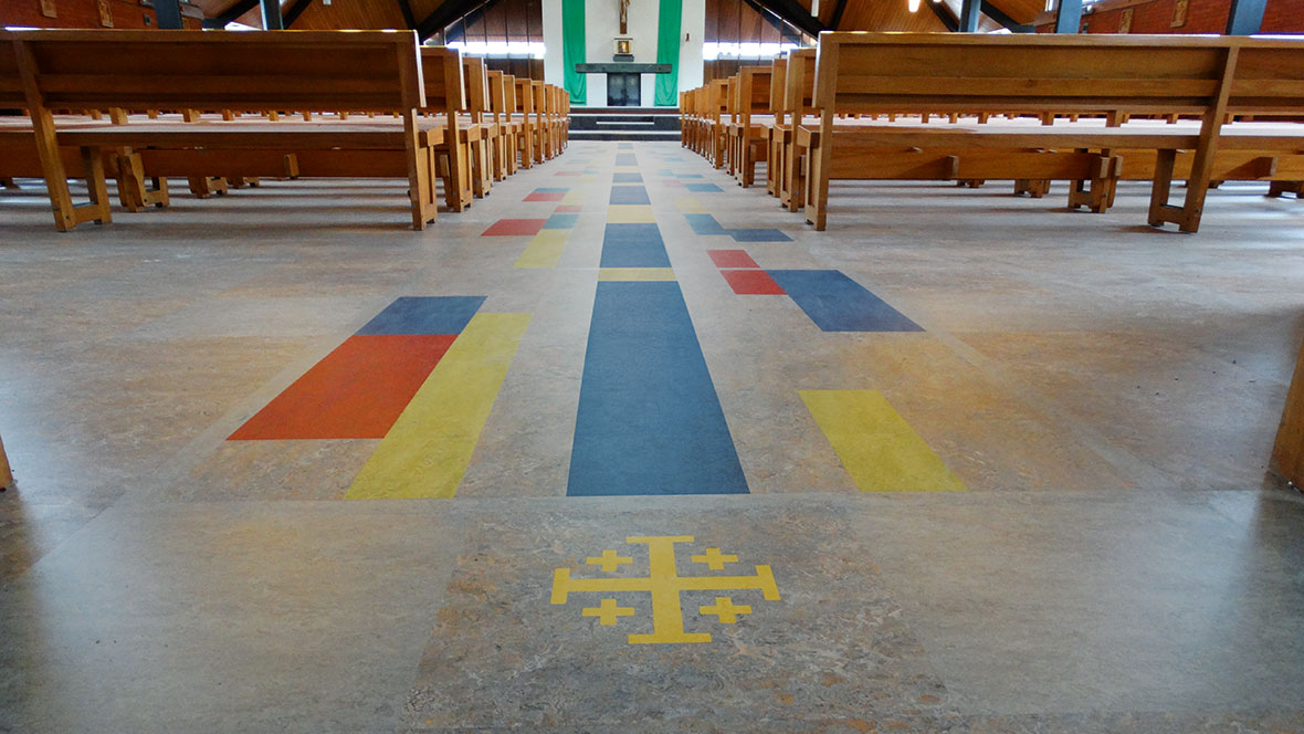 St Josephs Catholic Church Takapuna - Marmoleum Marbled Modular