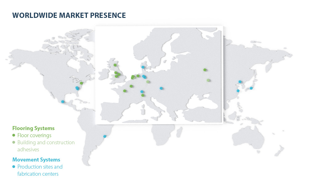 Forbo presence worldwide 2021