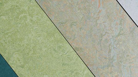 Linoleum Marmoleum Boden Grün Grau