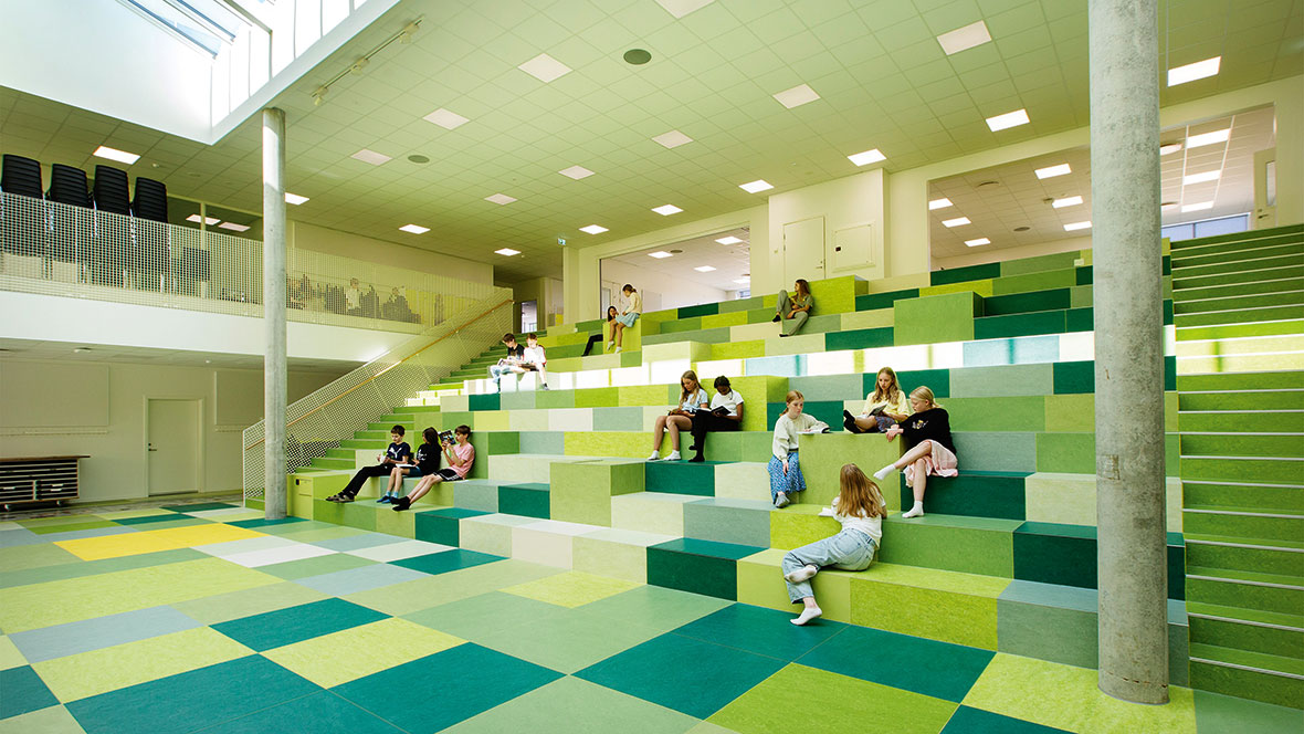 Dalby School_Marmoleum Marbled