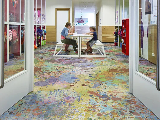 Sarlon 9100 Multicolour Splash - Acoustic flooring for schools