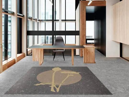 Cecilia | office grey marmoleum