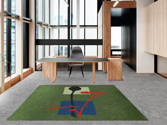 Cecilia | office green marmoleum