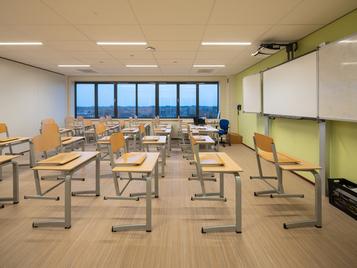Marmoleum Striato in een klaslokaal