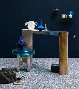 Trendblog Beeldbepalers blue terrazzo