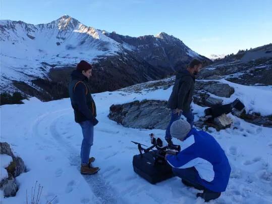 Marmoleum the movie | film crew in snow