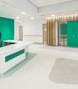 Clatterbride Hospital Marmoleum