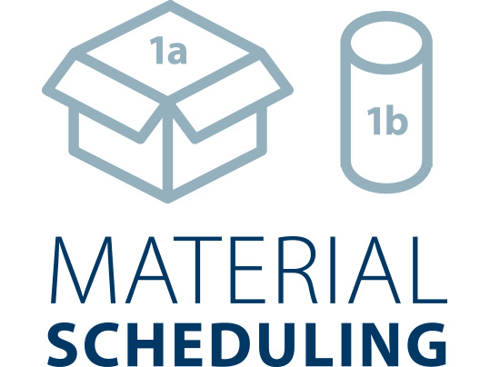 Material scheduling icon