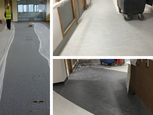Why suitable floor protection is required