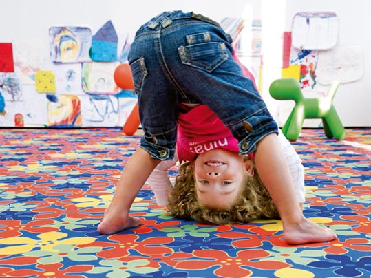 Flotex textile colourful flooring for early learning and day car facilities