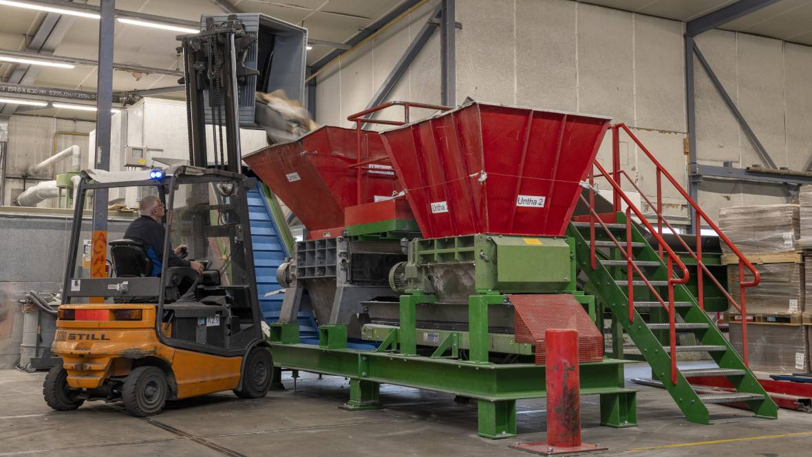 Coevorden factory | residual material in shredder