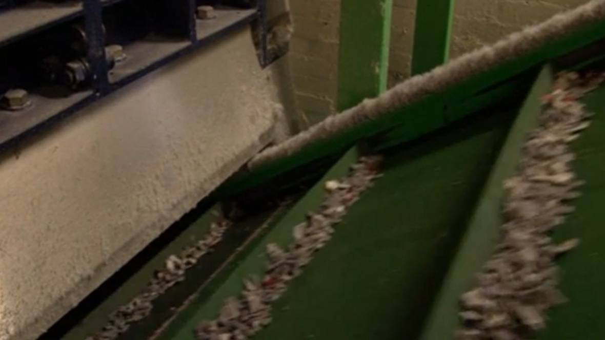 Ripley factory | material after shredding