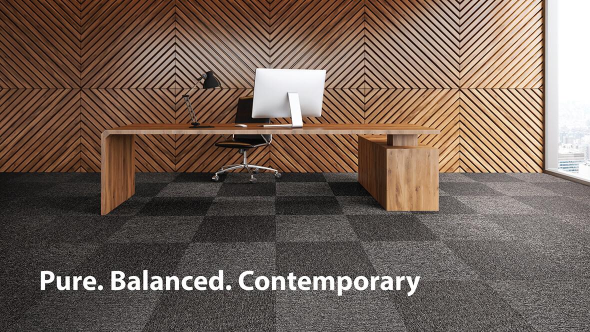 Tessera Struktur1 carpet tiles for offices