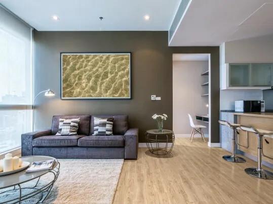 Allura Decibel in Open plan living dining area