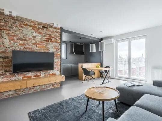 Marmoleum Walton Solid in Open Plan Living Area