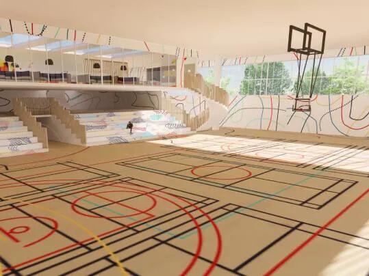 Revêtement de sol Challenge étudiant LISAA terrain de sport | Forbo Flooring Systems