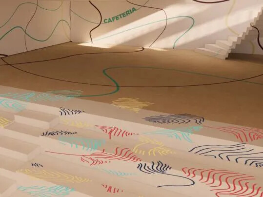 Revêtement de sol Challenge étudiant LISAA escalier | Forbo Flooring Systems