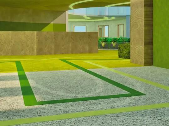 Revêtement de sol Challenge étudiant LISAA transition | Forbo Flooring Systems