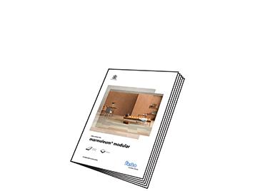 Marmoleum Modular sample book