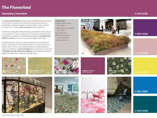 Trend report 2021 | example page Flowerbed