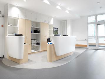 Forbo Bodenbeläge in allgemeinen Klinikbereichen