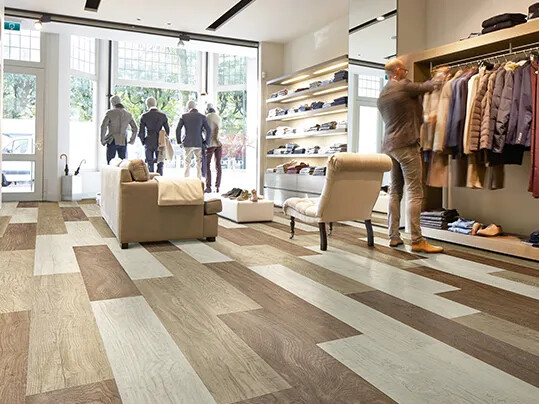 Allura LVT in clothing store